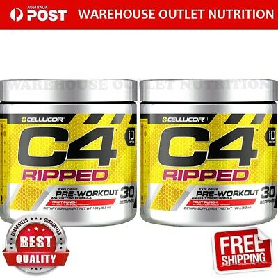 AU969.90 • Buy CELLUCOR C4 RIPPED PRE WORKOUT ENERGY THERMOGENIC FAT BURNER GEN4 30 SERVES X 2