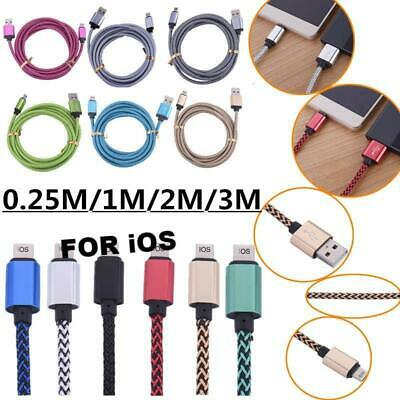 AU3.94 • Buy 1M/2M/3M Data Sync 2A Fast Charger USB Cable IPhone 7+ 6 6S 5 SE XS MAX XR MESH