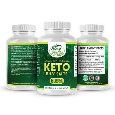 $12.97 • Buy Keto BHB Salts- Advanced Ketosis Weight Loss Capsules-Ketogenic Fat Burner Pill