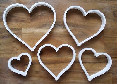 Heart Love Valentines Cookie Cutter Biscuit Dough Pastry Fondant Stencil 5 Sizes • 3.29£