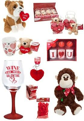 Valentines Day Romantic Gifts Ideas Her & His Love Heart Teddy Red Anniversary • 4.49£