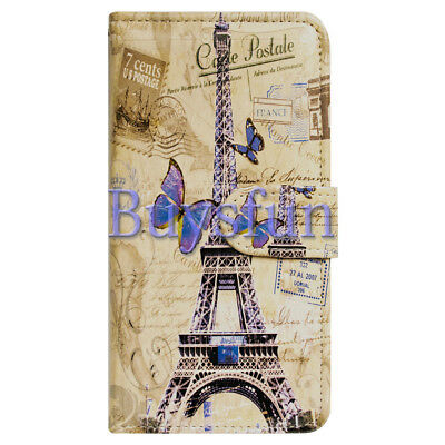 $ CDN10.60 • Buy Covdo Eiffel Tower Postcard Wallet Leather Cover Case For Samsung Galaxy Note 8