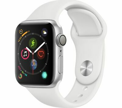 View Details APPLE Watch Series 4 - Silver & White Sports Band, 40 Mm - Currys • 399.00£