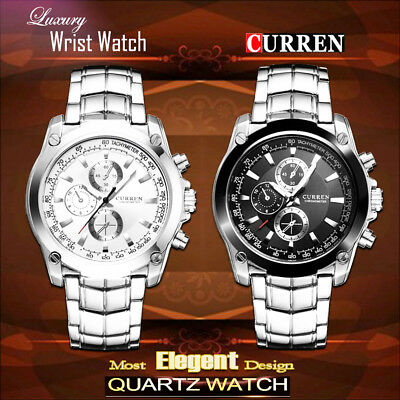 AU24.99 • Buy Waterproof Fashion Men's Stainless Steel Quartz Analog Date Sport Wrist Watch