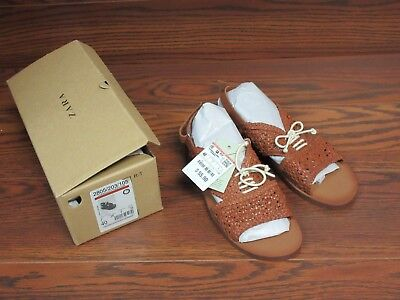 7db4e4ad3c16 Womens NEW ZARA Brown Leather Sandals W  Laces Size 7 MADE IN INDIA • 16.18
