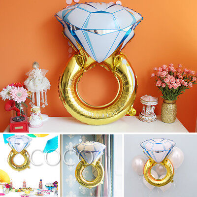 AU3.79 • Buy Large Diamond Ring Foil Balloon Engagement Valentines Party Decoration Gold AU