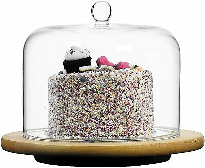 £24.99 • Buy Clear Glass Cake Dome & Handle Cheese, Cake, Cloche, Cover - Choice Of Styles