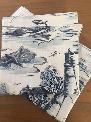 $49.99 • Buy Pottery Barn Set/2 Lighthouse Boat & BLUE STRIPE PILLOW COVER  Nautical Coastal