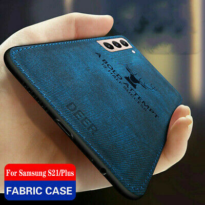 $ CDN4.43 • Buy For Samsung S20 Ultra S10 S9 S8+ Deer Cloth Silicone Soft TPU Matte Case Cover