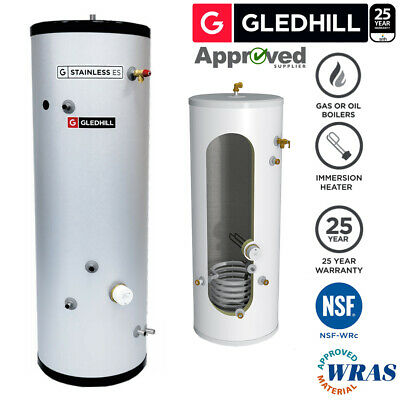 £506.99 • Buy Gledhill ES 250L INDIRECT Unvented Hot Water Cylinder Stainless Steel 250 Litre