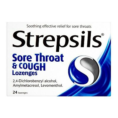 Strepsils Sore Throat And Cough Lozenges - 24 • 8.49£