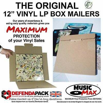 £30.51 • Buy 50 STRONG RECORD MAILERS 12  LP VINYL Albums MusicMax CARDBOARD PACKAGING BOXES