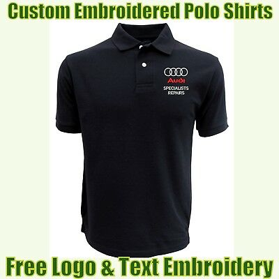 £14.49 • Buy NEW Custom Embroidered Polo Shirt With Logo Garage & Technicians Names Work Wear