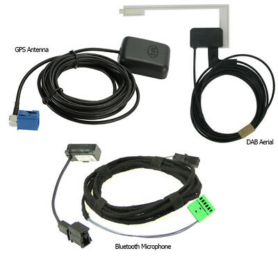 VW RNS 315 GPS Antenna DAB Aerial Microphone Accessories ONLY • 59.99£