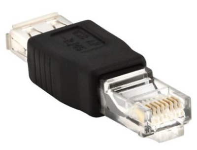 USB2.0 Type A Female To Ethernet RJ45 Adapter Connector Converter  • 10$
