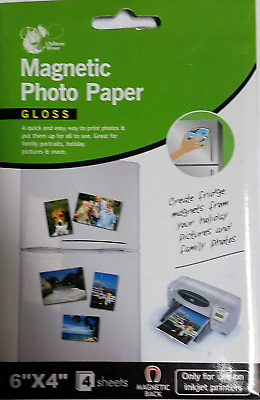 £3.99 • Buy 6  X 4  Magnetic Photo Paper - Gloss - 4 Sheets