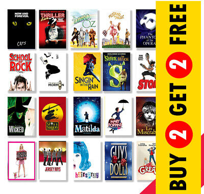 £3.49 • Buy Best Musical Theatre Posters, A3 A4 Size Glossy Art Print, Hanging Wall Decor