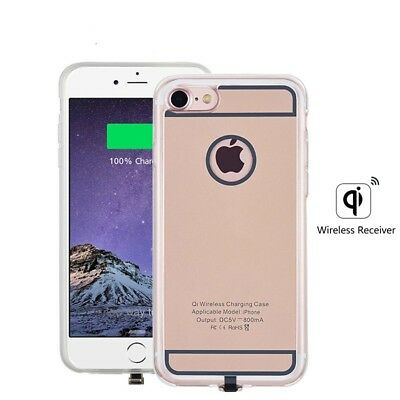 AU35.49 • Buy QI Wireless Charger Receiver For Apple IPhone 6 6s 7 Plus Case Silicon Cover