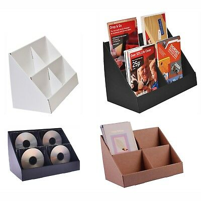 Stand-Store 4 Pocket Cardboard Counter Display Stands - Range Of Colours & Sizes • 9.50£