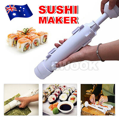 AU12.95 • Buy Sushi Maker DIY Tool Roller Meat Vegetables Bazooka Rice Mould Sushis Mold Tube