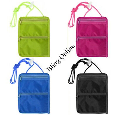 11x15cm ZIPPED NECK CORD TRAVEL POUCH PURSE HOLIDAY CASH MONEY COINS KEY CARDS  • 2.35£