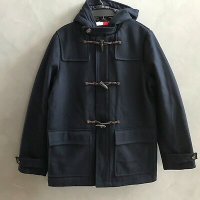 $129.98 • Buy NWT Tommy Hilfiger Men's Wool Blend Hooded Toggle Duffle Coat Jacket $329.99 NEW