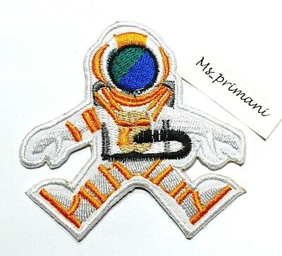 £1.89 • Buy Space Man Astronaut Embroidered Iron/sew On Patch Kids Nasa Crafts Badge 7.5x7.5