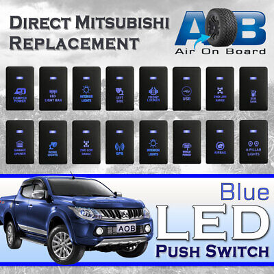 AU28 • Buy Mitsubishi Push Switch 12V Blue LED Fog Light Bar For MIRAGE LA, OUTLANDER ZK, P