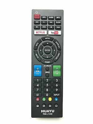 UNIVERSAL REMOTE CONTROL REPLACEMENT FOR Sharp GB012WJSA LCD LED TV Netflix • 7.89£