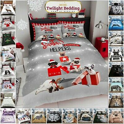 KING SIZE DUVET COVER PILLOW CASE 3D Animal Bedding Set Ultra Soft Quilt Covers • 11.95£