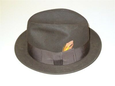 a7ce5b787a6b8 Vintage 1950s 1960s Lee Men s Felt Fedora Hat Size 7 1 4 • 30.00