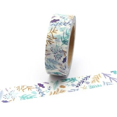 AU5.50 • Buy Washi Tape Floral Leaf Branches 15mm X 10m