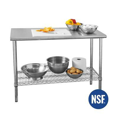 Commercial NSF Stainless Steel Top Kitchen Island Table 49 X 24 In. Worktable • 143.80£