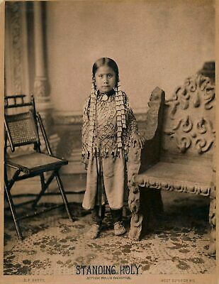 £3.99 • Buy Native American Indian Standing Holy, Sitting Bulls Daughter Photo Print Picture