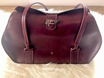 Henry Beguelin Designer Leather Shoulder Hand Bag Purse Red Wine Made In  Italy • 248.00  21a87eed4ae98