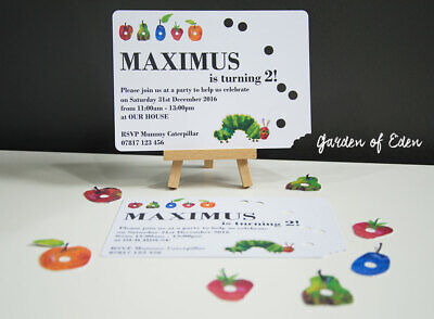 6 Hungry Caterpillar Personalised Invitations High Quality Any Occasion Party • 3.50£