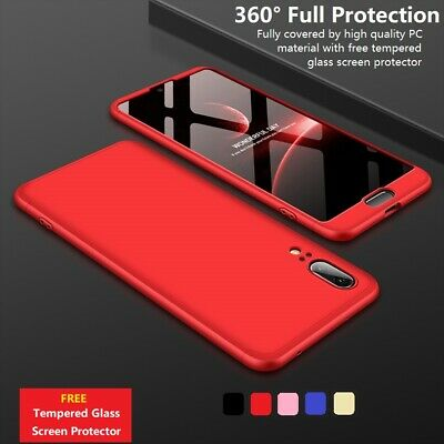 360° Full Body Hard Phone Case Cover Tempered Glass Huawei P10 P20 P30 Lite Pro • 3.99£