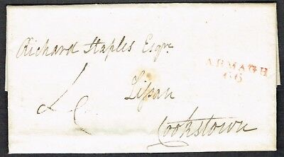 £30 • Buy Irish PH 1820 Entire With Red ARMAGH/66 Stamp To Cookstown