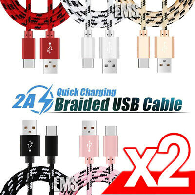 AU8.99 • Buy 2x USB Type C Fast Charging Charger Cable Samsung Galaxy S8 S9 S10 Note 10 Plus