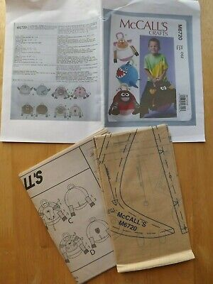£3.50 • Buy Mccalls 6720 Sewing Pattern - Childrens  Animal Hopper Ball Covers