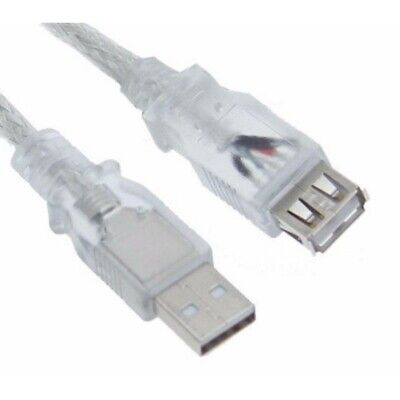 AU12.90 • Buy Astrotek USB 2.0 Extension Cable 3m - Type A Male To Type A Female Transparent