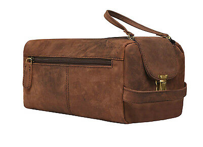 AU79 • Buy New Vintage Leather Travel Toiletry Bag Organizer Men's Travel Accessories