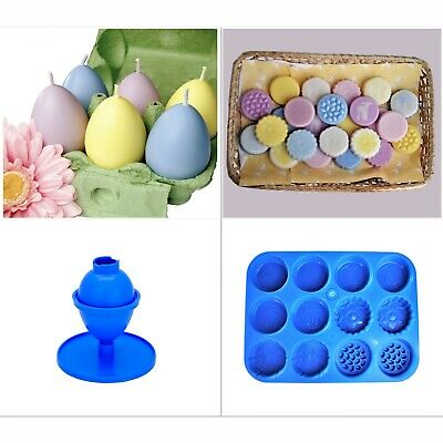Candle Moulds Set, 1x Easter Spring Wax Melt Tray & 1x Egg Shaped Mould. S7387 • 7.20£