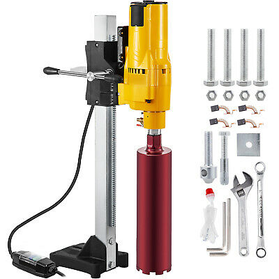 205mm Diamond Core Drill Wet & Vacuum Core Drilling Rig Stand & Drilling Bits • 179.99£