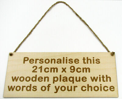 Personalised Wooden Sign Plaque Wall Door Hanging Gift Idea Custom Bespoke Made • 6.95£