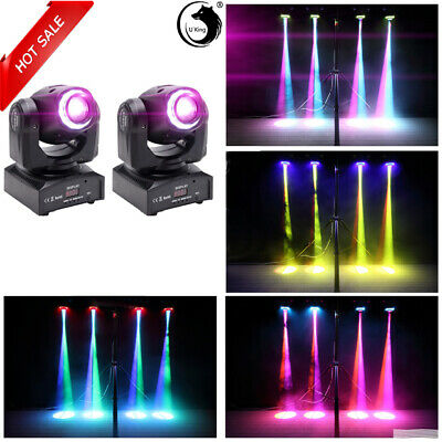 2PCS 80W LED RGBW Moving Head Light DJ Party 8Pattern Gobo Stage Lighting Disco • 125.29£
