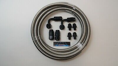 $149.99 • Buy Dodge 48RE Automatic Transmission Cooler Line Kit -8 AN Stainless Steel Braided