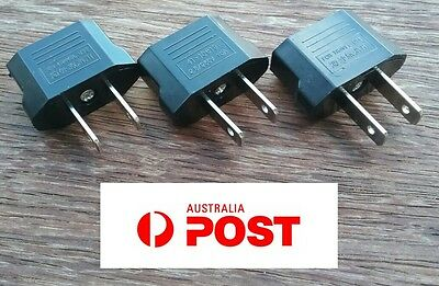 AU6.95 • Buy 3 X Euro EU, Australia AU To USA AC Power Plug Travel Adapter