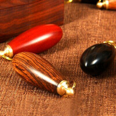 AU11.70 • Buy Delicate Water Droplet Shape Wooden Snuff Bottle With Snuff Spoon&Metal Mou AZ