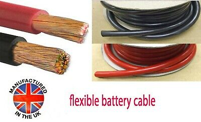 Battery, Starter Cable, Auto Marine 20mm²/135amp (4AWG) MADE IN THE UK   BAT135 • 4.05£